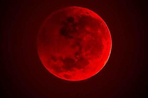 кървава луна и луно затъмнение на 21 януари