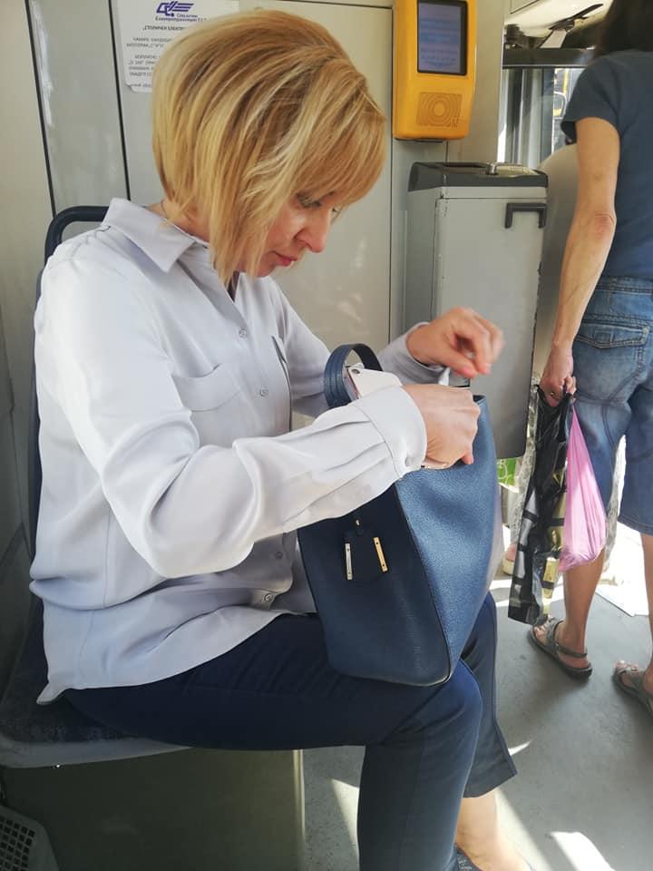 Мая Малонола в метрото